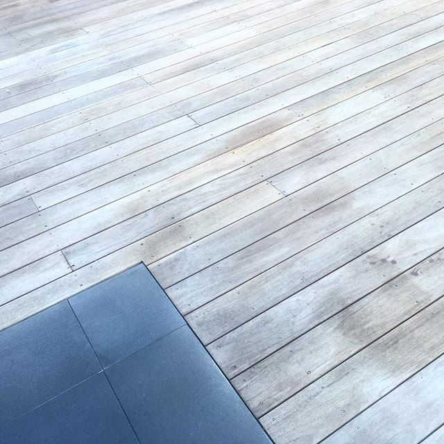 ▫️GREY▫️ This Mahogany deck was installed only 8 weeks ago and check out the colour already!!!!! Mahogany timber, even years later is as soft as a baby's bum to touch and walk on with no splintering like other hard woods.#stunning #mahogany#decking#timber#weatheredtimber#timeless #bluestone #justthewayilikeit #exterior#landscape#landscaping#garden#revamp# #solscapes#solscapesconstruction #solscapesconsultation #landscapedesign…