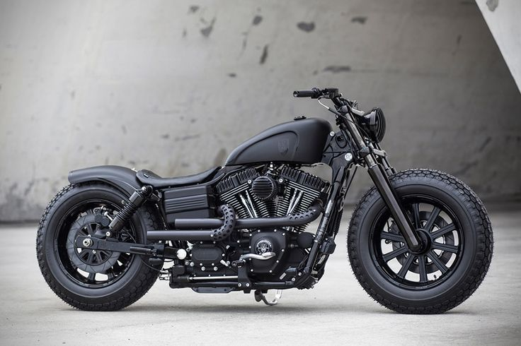 Through his Taiwan based Rough Crafts, the talented Winston Yeh has built some of the most gorgeous two-wheelers on Earth - a murdered-out Harley Dyna Fat Bob.
