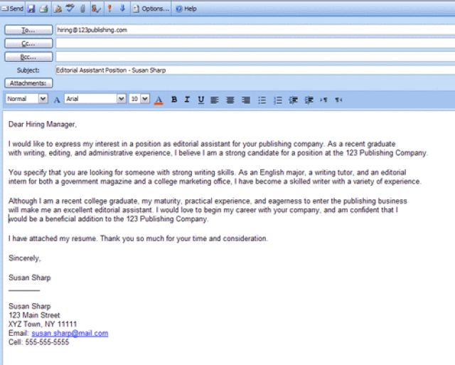 Best 25+ Examples of cover letters ideas on Pinterest Cv format - sample email for sending resume
