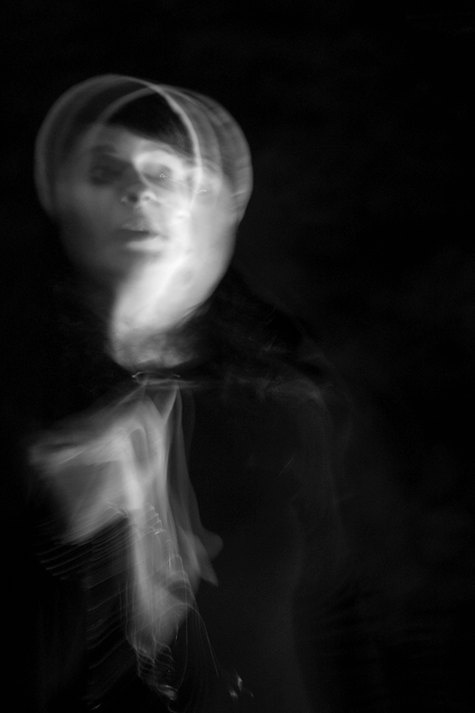 Ghost Woman  Photography  Black and White  4x6 by CuriousLemon, $12.00