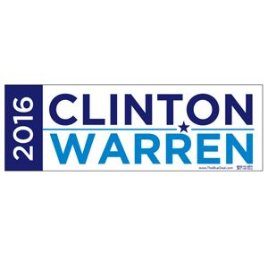 Clinton / Warren 2016 Bumper Sticker