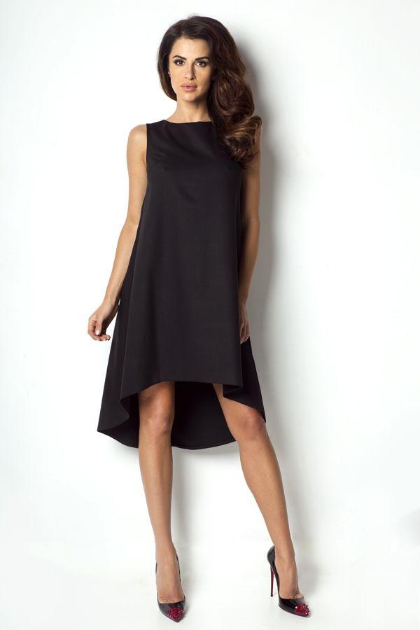IVON Asymetryczna zwiewna sukienka model P2 ivon-sklep.pl