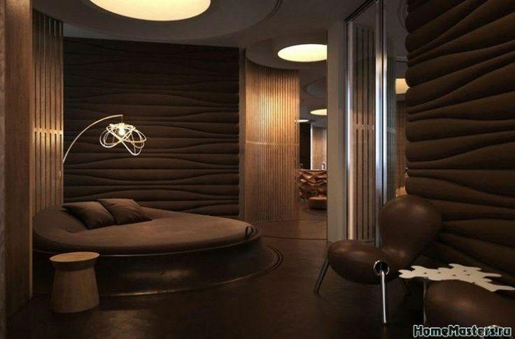 Шоколадная спальня | Дизайн интерьера спальни | Фотогалерея ремонта и дизайна | Школа ремонта. Ремонт своими руками