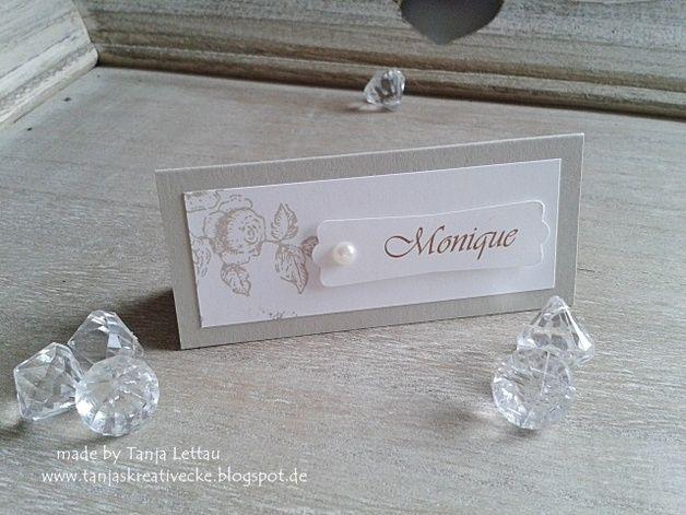"""Hochzeitsdeko - 10 Tischkarten/Platzkarten zur Hochzeit """"... - ein Designerstück von Tanjas-Kreativecke bei DaWanda"""