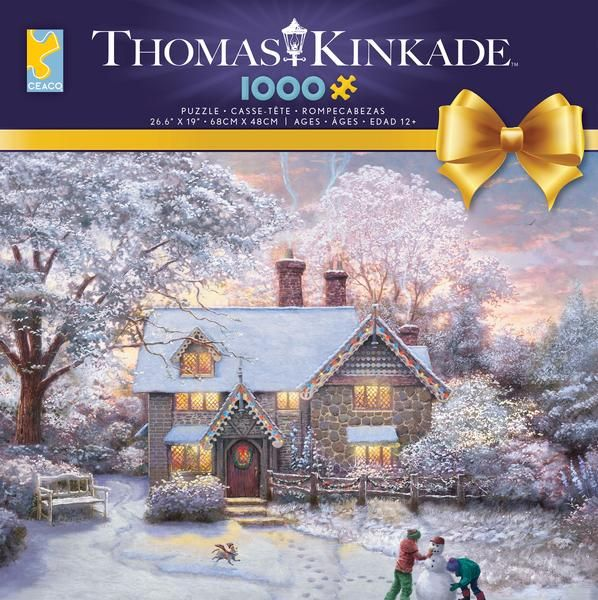 Thomas Kinkade Christmas Cottage 2020 Thomas Kinkade Holiday   Christmas at Gingerbread Cottage   1000