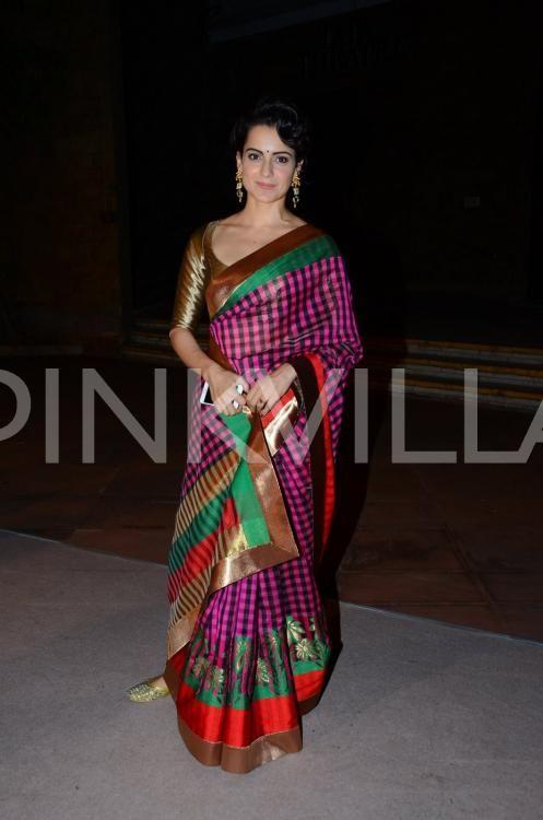 Wedding Diaries! Kangana Ranaut Looks Ravishing in This Saree!   PINKVILLA