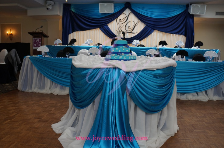 Royal Blue #Wedding # Decoration  _good for: +cake table +gift table (with red envelope box slot) +panel tables for guest check-ins/signatures +Photobooth table +party favors