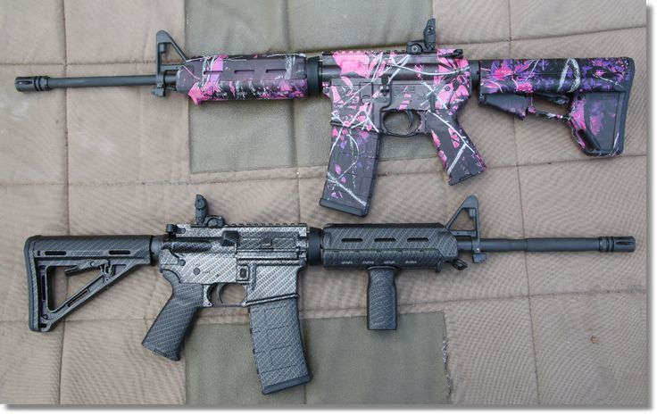 His & Hers Designer Colt AR-15s – New Durable Hydro-Dipped Patterns