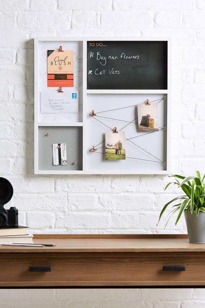 Next Memo Board Grey With Images Diy Memo Board Memo Board