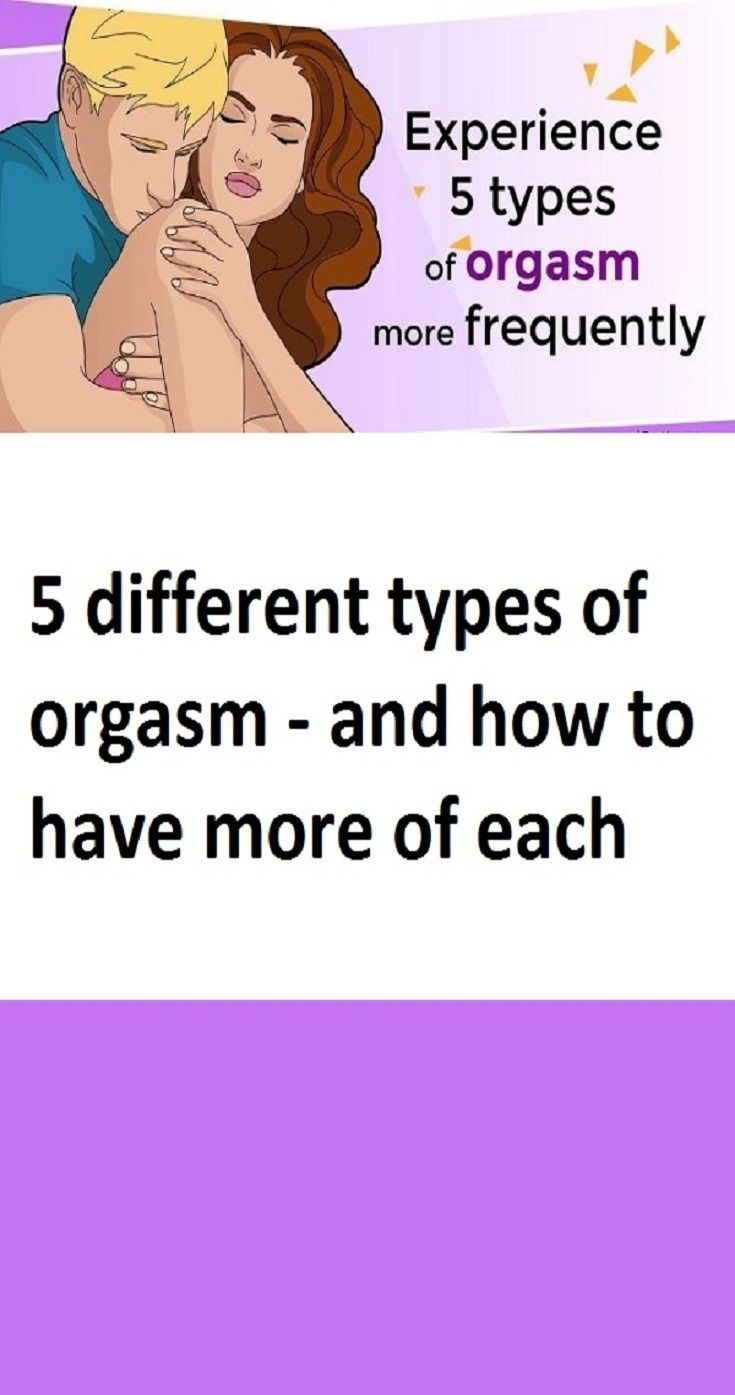 5 types of orgasm for women