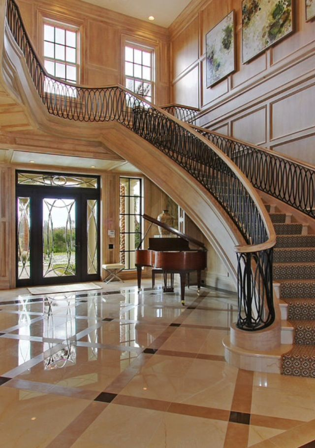 Foyer Staircase Quest : Best home foyers images on pinterest grand