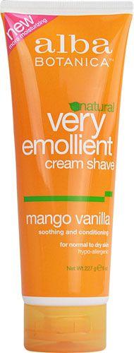 Alba Botanica® Very Emollient Cream Shave Mango Vanilla