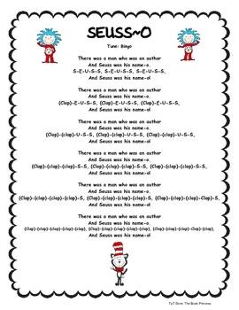 Freebie song for Poetry Binders/Read Across America.