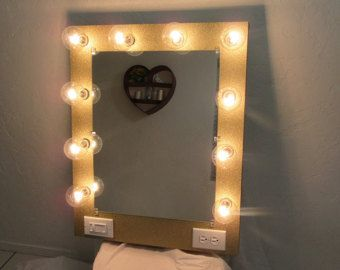 Items similar to Homemade Vanity Mirror! on Etsy