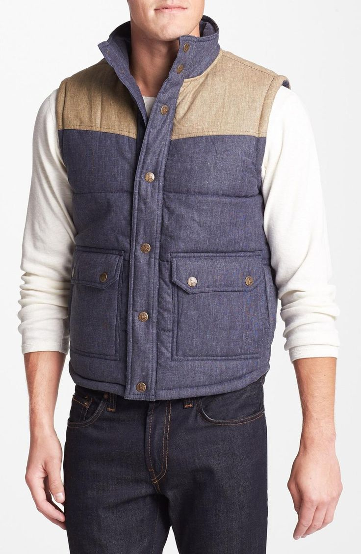 Kane & Unke Colorblock Quilted Vest | $69 | gifts for guys | mens quilted vest | mens fashion | menswear | mens style | love | wantering http://www.wantering.com/mens-clothing-item/kane-unke-colorblock-quilted-vest/afd3K/