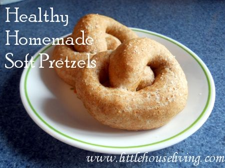 Homemade and healthy Soft Pretzels. Easy to make! I'm going to make these in the shape of a heart for Valentine's Day!