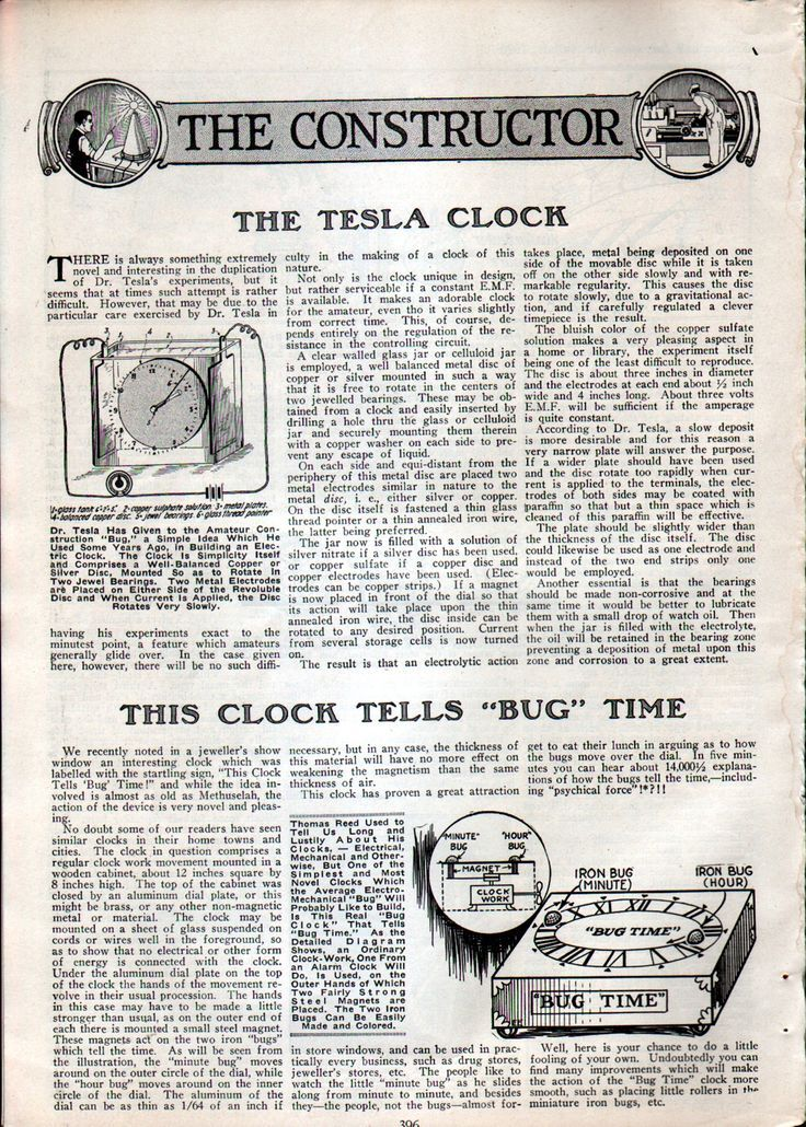 Tesla - the first synchronized electric clock