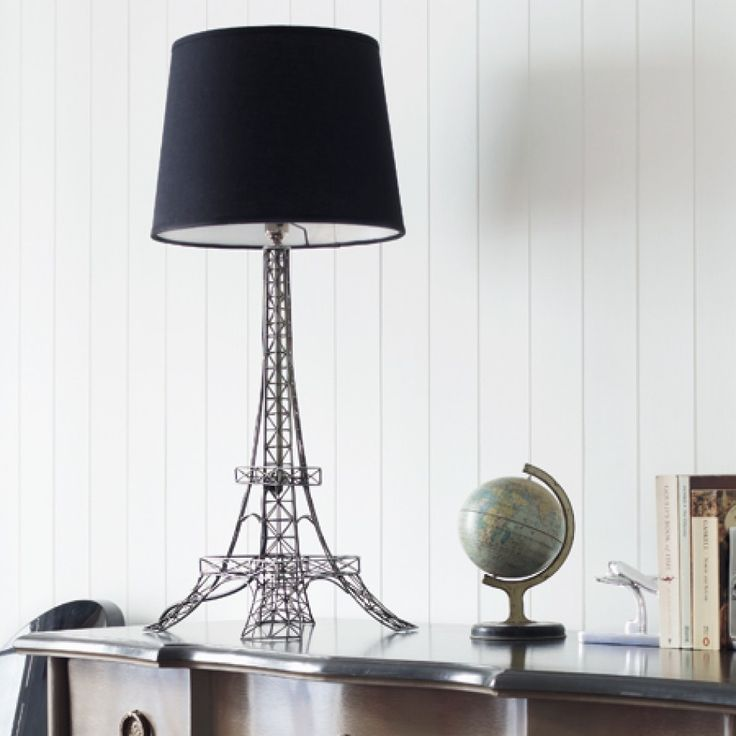 Eiffel tower lamp with black shade graham d put this in my room