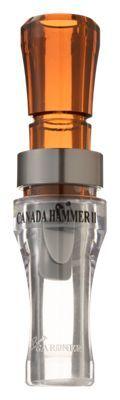 Buck Gardner Calls Canada Hammer II Goose Call - Bourbon/Clear