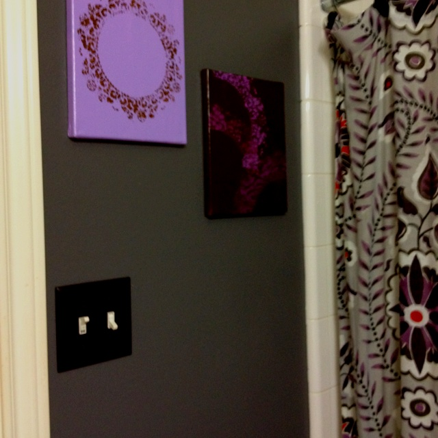 Purple and gray for the bathroom our new bedroom pinterest