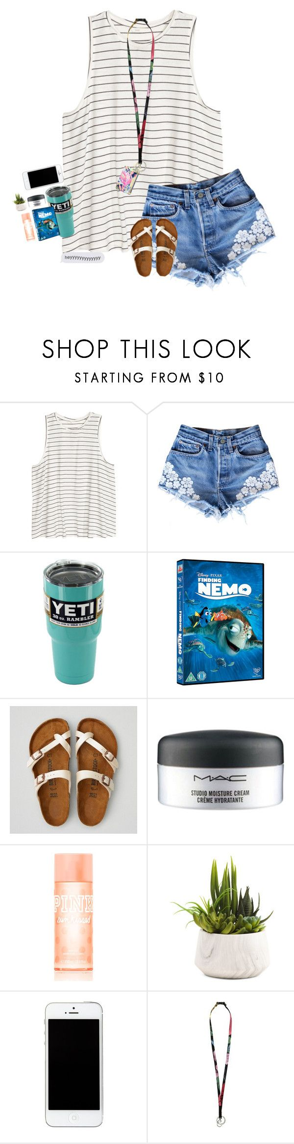 """everyone's like spring transition and i'm like hb summer?"" by southernmermaid ❤ liked on Polyvore featuring H&M, American Eagle Outfitters, MAC Cosmetics, Victoria's Secret PINK, Vera Bradley and Lilly Pulitzer"