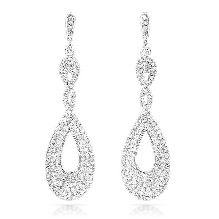 90 best Diamond Chandelier Earrings images on Pinterest | Diamond ...
