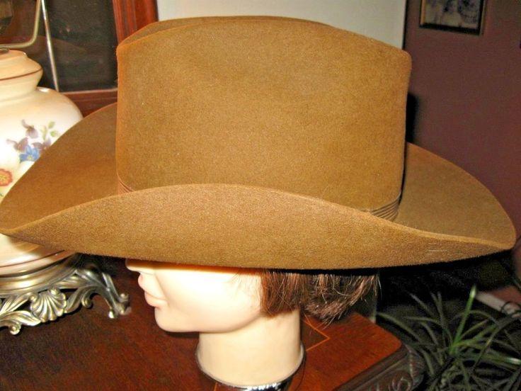 Resistol Cowboy Hat Mens XXX  Beaver Felt Self-Conforming Chocolate Color #Resistol #CowboyWestern