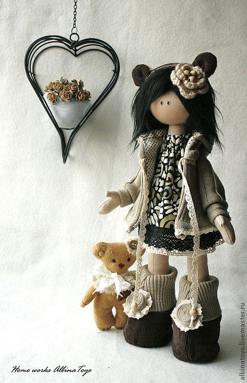 Muñeca Kattie con su osito de peluche