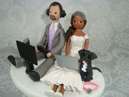 Geeks wedding cake topper