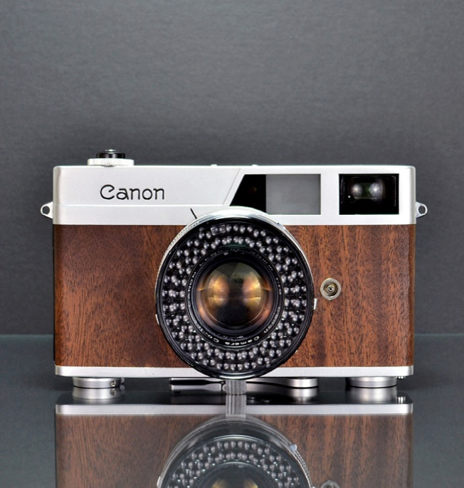 Limited edition rangefinder Canonet Walnut camera > $2,125