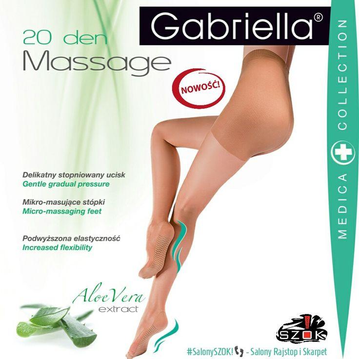 🔴 #Rewelacyjne #rajstopy #Massage #20DEN serii #Medica firmy #Gabriella ze stopniowanym uciskiem i Mikro-masującymi stopkami dostępne w ➡ #SalonySzok!👣