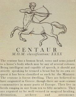 Centaur- Fantastic Beasts and Where to Find Them