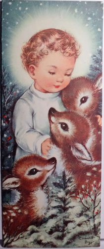 Vintage Christmas Card--I remember seeing this as a child A LOT!! Oh how the years have past!