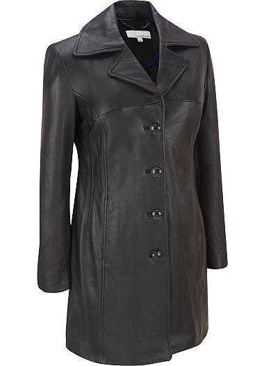 Leather 3/4 Length Coat