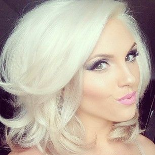 Beautiful makeup and hair color.