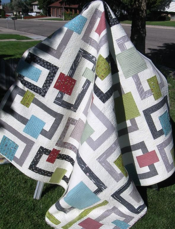 Quilt Patterns Using Squares And Rectangles : fun rectangle and square quilt Quilts - Squares/Rectangles Pinterest Patterns, Squares and ...