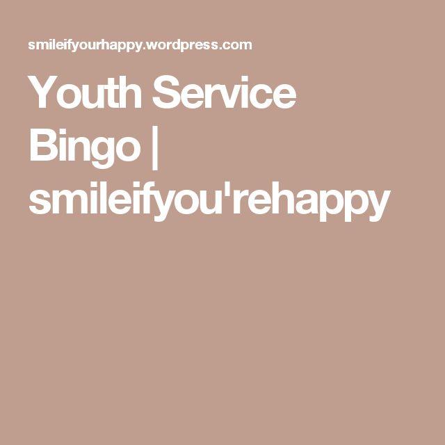 Youth Service Bingo | smileifyou'rehappy