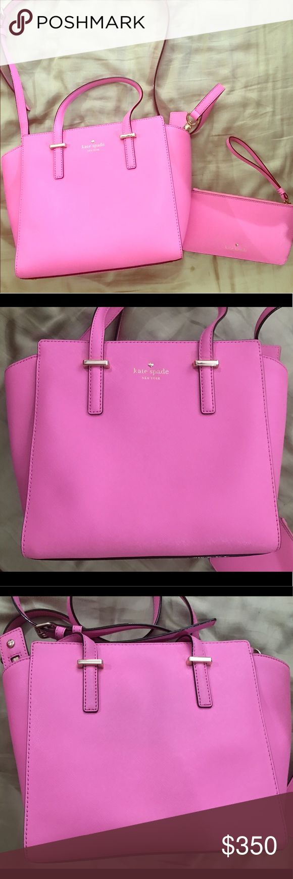 Kate Spade Pink Purse and Wallet Brand new, I have the original bag it came in. Selling both wallet and purse together. It's hot pink and has no damage to both items. kate spade Bags Crossbody Bags
