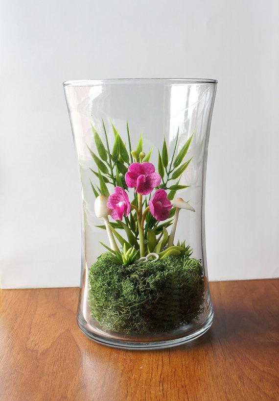 Purple Vanda Orchid Faux Terrarium - 36 Best Little Glass House Images On Pinterest Orchid Terrarium