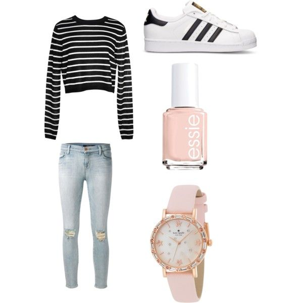 Geen titel #7 by ninavanoss on Polyvore featuring polyvore, mode, style, TIBI, J Brand, adidas, Kate Spade and Essie