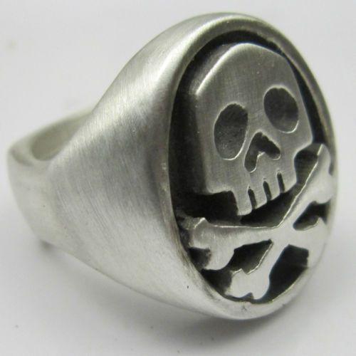 MJG Silver Space Captain Harlock Skull Ring Comic Con   eBay