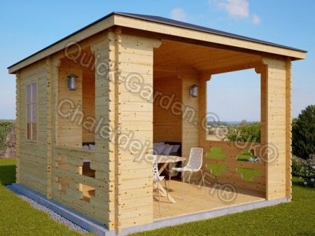 wooden gazebo 3m x 5m 10 x 17 28mm