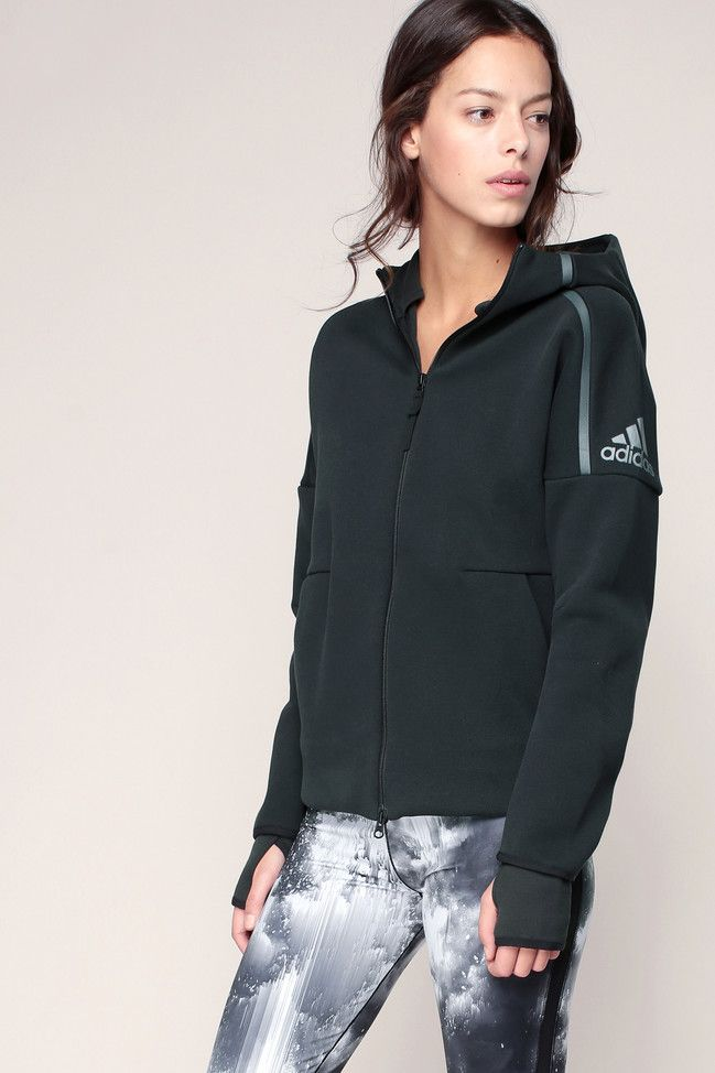 sweat a capuche noir imprime logo hoody adidas originals pour femme prix gilet adidas monshowroom