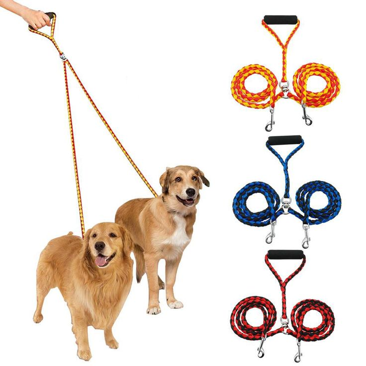 Pet Dog Double Leash Braided Tangle Dual Coupler Walking Two Dogs Rope With Handle Arnes Perro Harnais Pour Chien