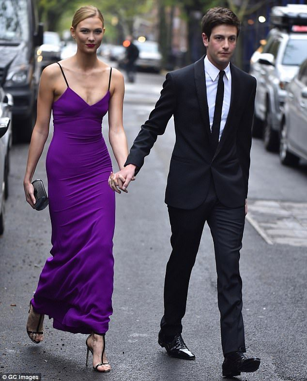 Loved-up: Karlie's personal life appears to also be going swimmingly, enjoying a blissful union with venture capitalist and healthcare entrepreneur Joshua Kushner, 32