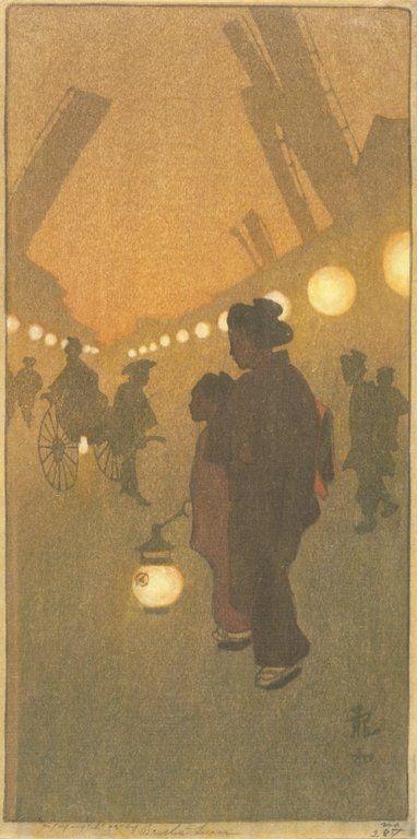 "1909........"" THÉÂTRE STREET , YOKOHAMA ""..........BY BERTHE  LUM..........SOURCE OLDJAPN.TUMBLR.COM..............."
