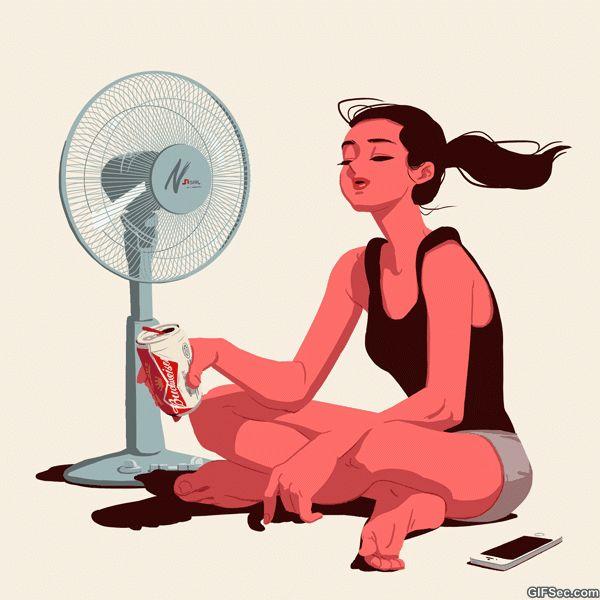 Funny GIF: Summer - www.gifsec.com