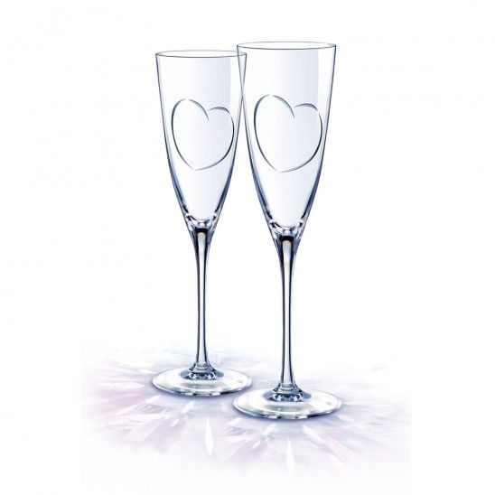 Set of 2 Lovely Champagne Flutes