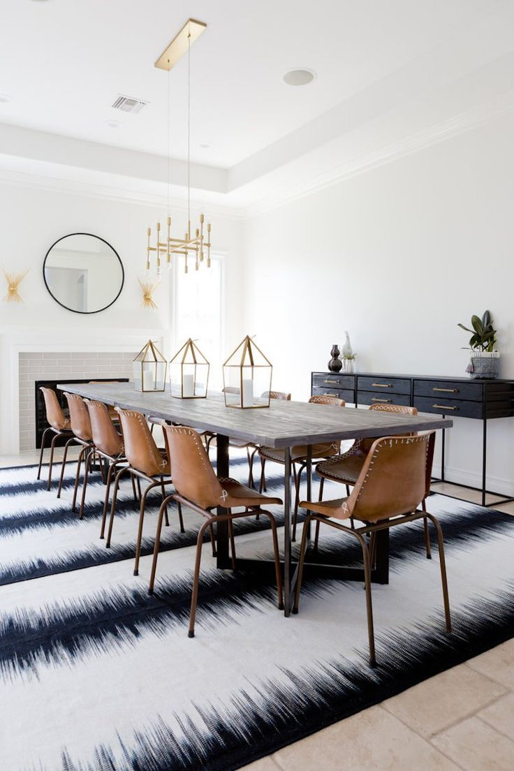 Best 25 bohemian dining rooms ideas on pinterest midcentury hanging chairs midcentury - Rug dining room and interior ...