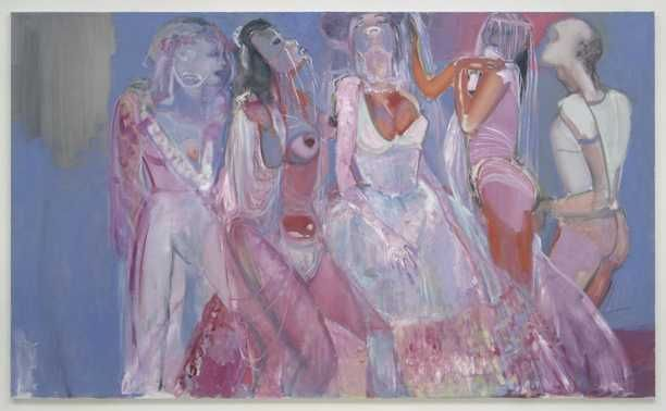 The brides of Dracula (1997) Marlene Dumas. Olieverf op doek. Aankoop 1998.